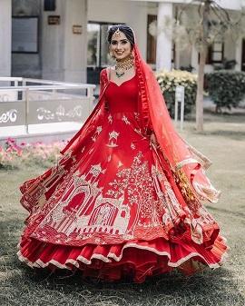 Twirling bride | Red lehenga | Masks | Lockdown weddings