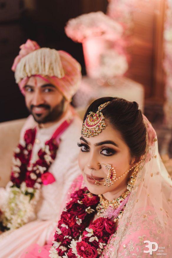 bride and pets , pink lehenga , indian wedding , Indian wedding , pink lehenga , couple moments , indian brides
