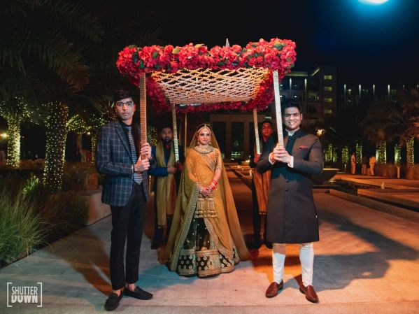 bridal entry ideas   phoolon ki chaddar   Destination wedding in Fujairah
