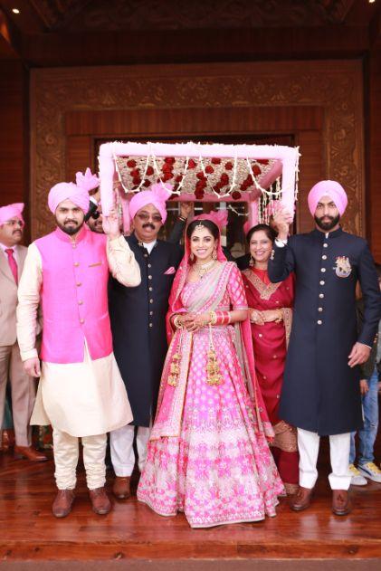 wedding deatils   indian wedding photography   Pink Anita Dongre Lehenga