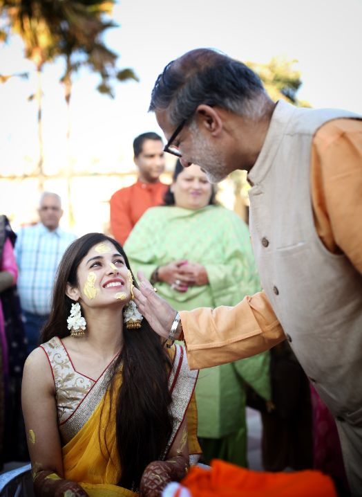 indian wedding celebration | father of the bride
