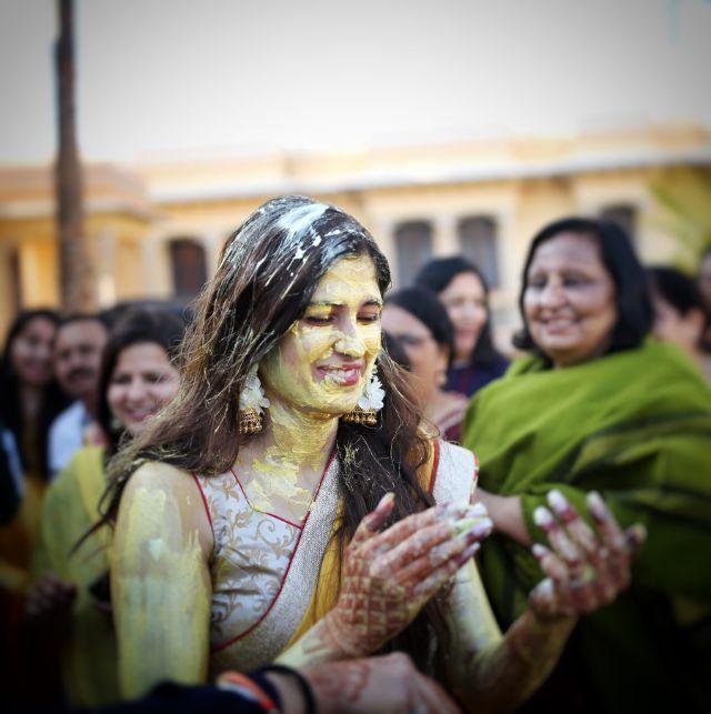 wedding fun | indian wedding haldi celebration