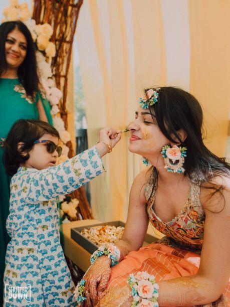 cute kid at indian wedding