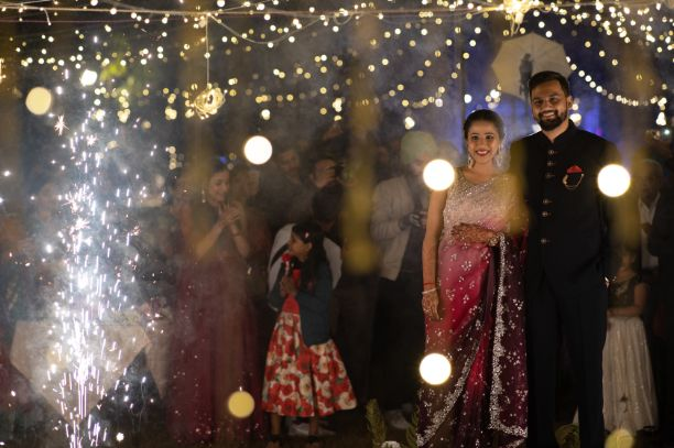 couple entry ideas | engagement ceremony photos