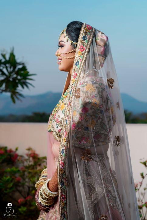 portrait shoot ideas for Indian bride | Beach Wedding in Alibaugh