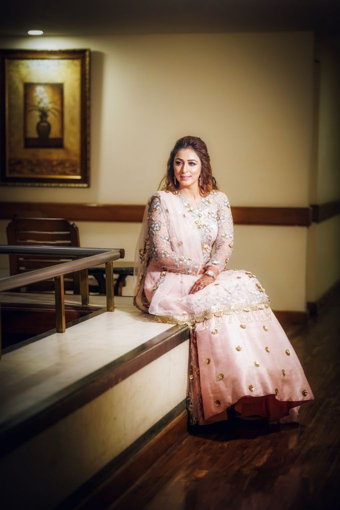 pastel pink outfit , Ludhiana wedding