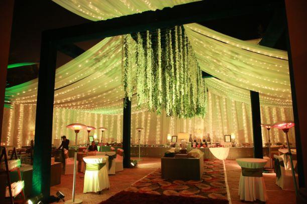 fairy lights   indian wedding decor  