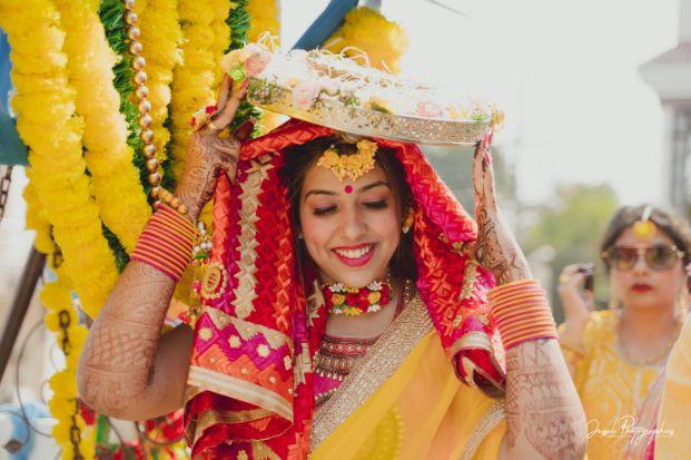 wedding rituals | happy bride | haldi ceremony |