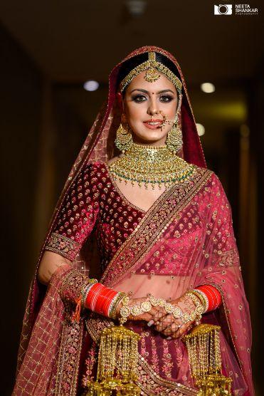 briadl blouse designs | indian bridal photography | Sabyasachi Lehenga in Maroon