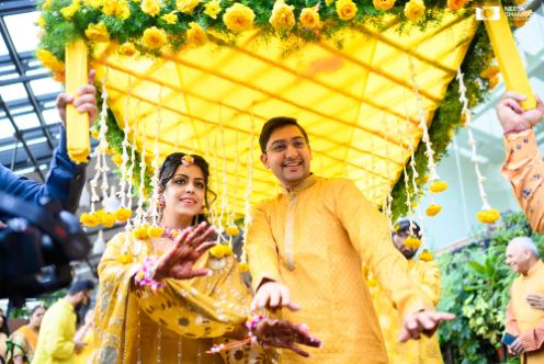 couple entry ideas | haldi day entry ideas for bride and the groom