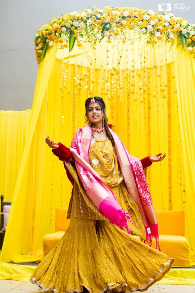 bridal outfit ideas | haldi day outfit