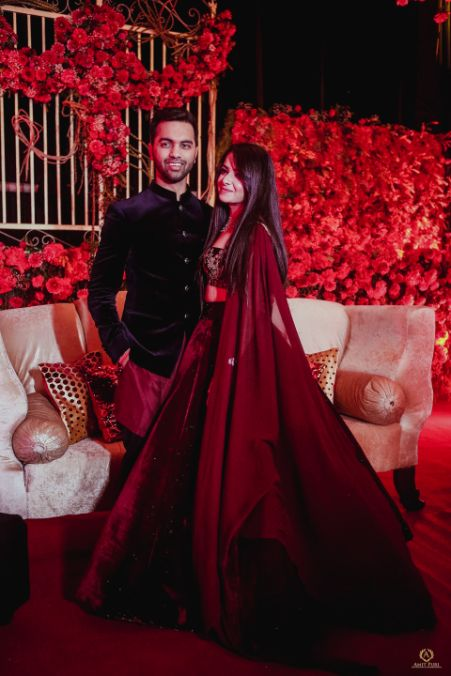 beautiful couple in gorgeous outfits   Destination wedding in Fujairah