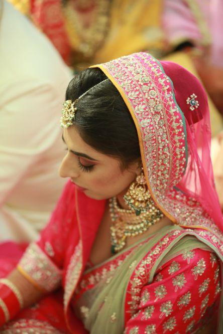 Pink Anita Dongre Lehenga   indian wedding photography