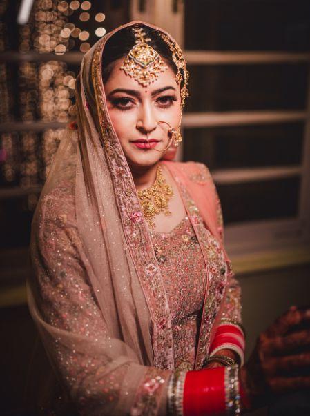 beautiful bridal portrait   indian bridal makeup  