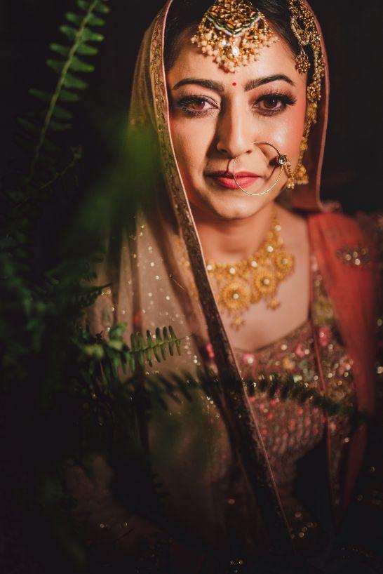 bridal portraits   indian wedding photo shoot ideas