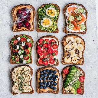 healthy toast | Fruits | Lifestyle change |
