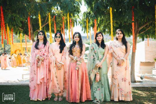 mehendi ceremony   bridesmaids photography poses