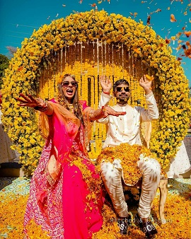 Haldi décor ideas | Backdrop inspiration | Indian wedding Photography