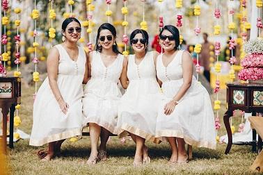 Bride squad   Indian bridesmaids   Indian wedding functions