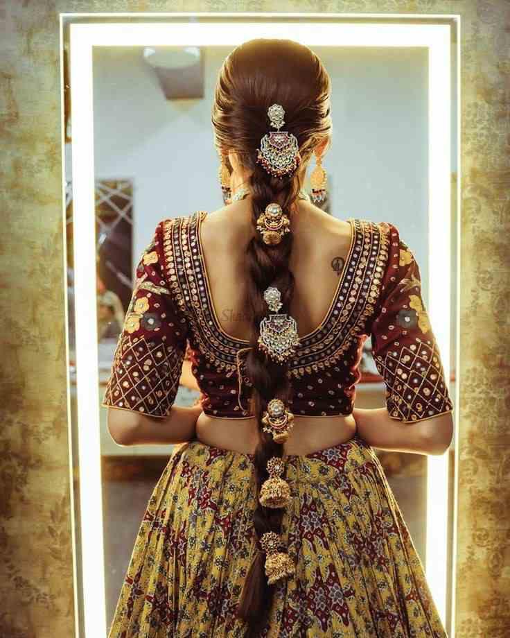 Bridal braids | Bridal choti | Bridal Jewelry | Bridal jewellery | Bridal hair jewellery