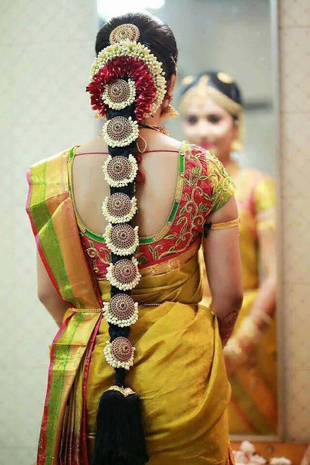 Bridal Choti | Bridal Braids | bridal jewelry | Bridal jewellery ideas