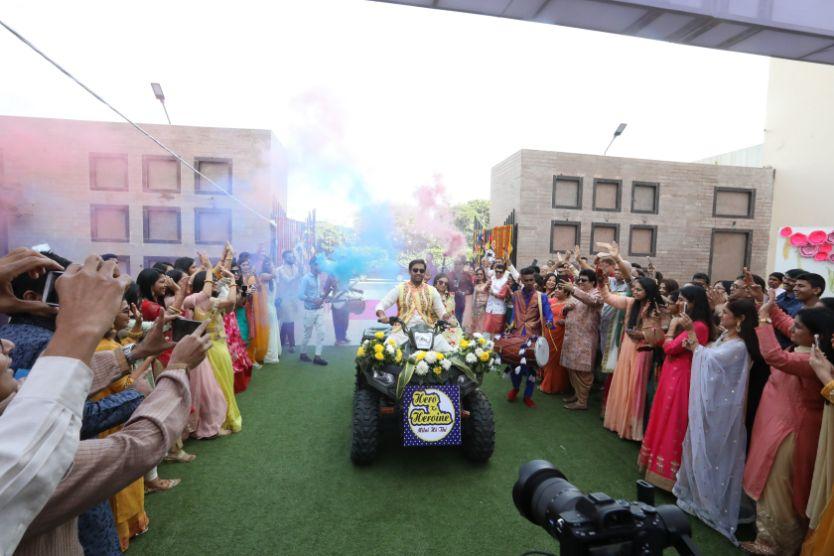 Indian Weddingjaipur wedidng   mehendi outfit   couple entry