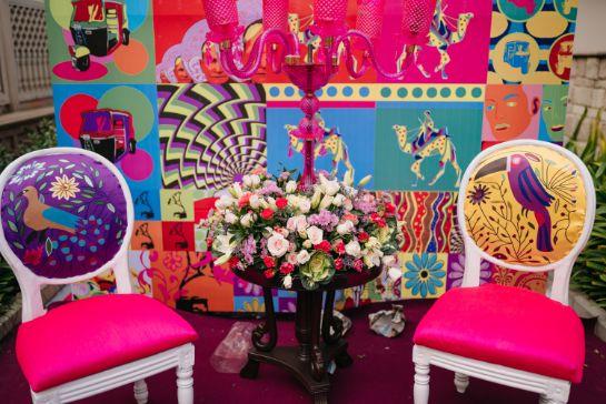 decor ideas , wedding decor , indian bridal lehenga , bridal jewllerey , Rimple & Harpreet Sharara   Pink Sabyasachi Lehenga   Delhi Wedding