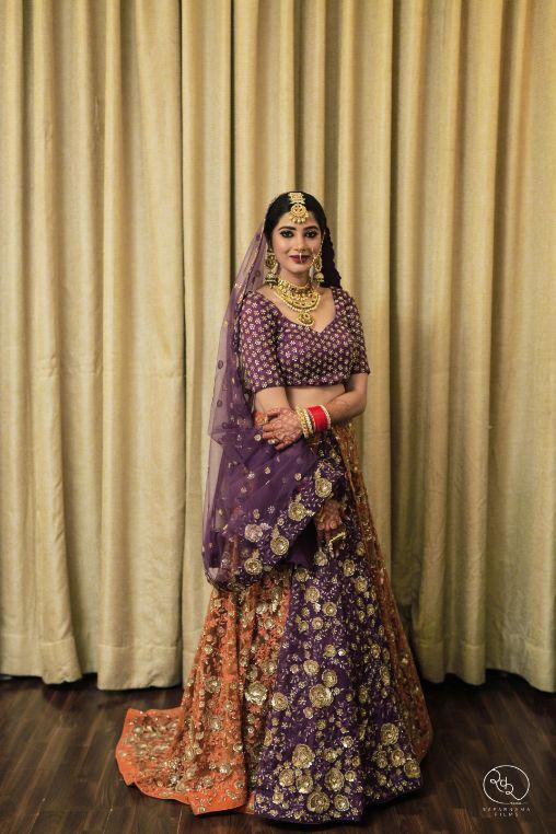 real indian wedding , chooda , indian bridal lehenga , indian bridal outfit , DIY wedding outfits / burgundy Lehenga / sangeet Lehenga