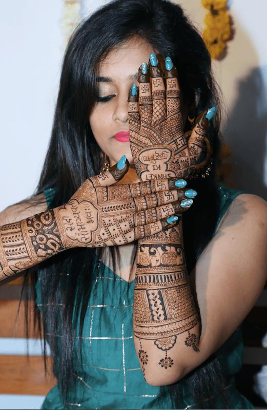indian wedding , bridal henna , red lehenga , indian wedding blog , Gujarati wedding   fairytale reception   wedding cake
