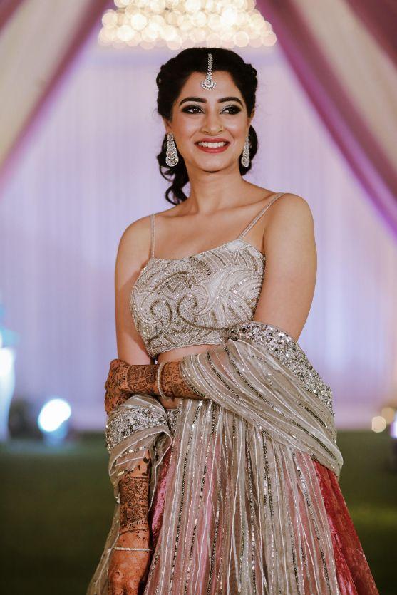 silver lehenga , real indian wedding , chooda , indian bridal lehenga , indian bridal outfit , DIY wedding outfits / burgundy Lehenga / sangeet Lehenga