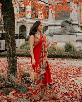 Masoom Minawala | Red saree