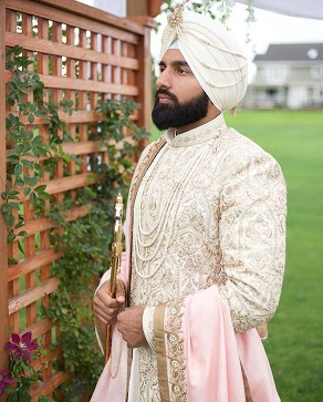 Ivory crème | Off white sherwani colors | Thread embridery