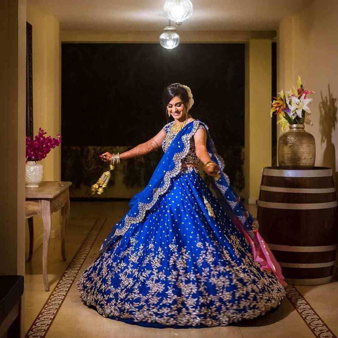 blue lehenga | bridal fashion