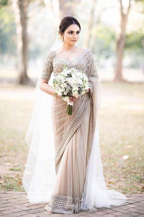 bridal saree | pastel saree