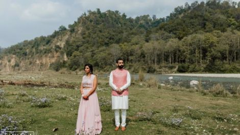 indian wedding , indian bride , destination wedding , Riverside wedding |Flower Mandap | mehendi decor ideasRiverside wedding |Flower Mandap | mehendi decor ideas