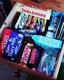 Tuck drawer | Snacks | Chocolates | Mid night snacking