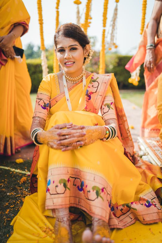 saree look , red lehenga look , indian couple , indian wedding , indian bridal lehenga , wittyvows , | Luxury banquet wedding | yellow lehenga | floral embroidery | red wedding lehenga