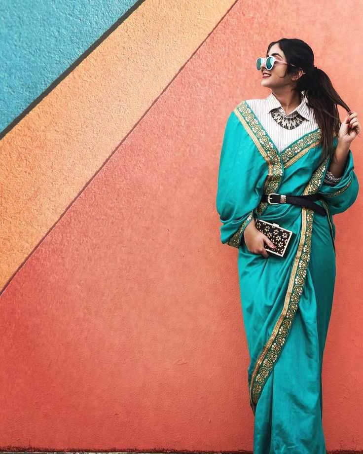saree styles | indo western sarees