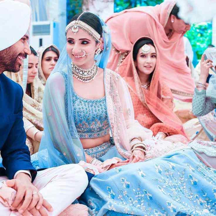 blue lehengas | bridal trends