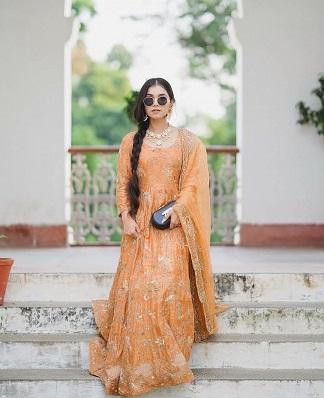 orange suit | first lohri | Indian Wedding outfit | Orange dress |