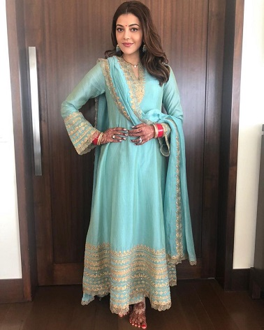 Kajal Aggarwal | Rimple and Harpreet Suit | First Lohri outfit