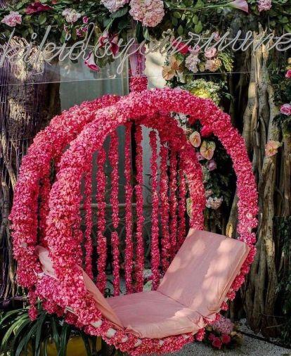 floral bridal seat