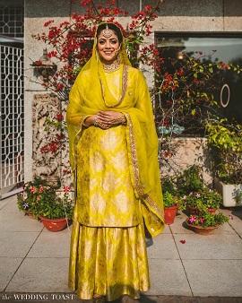sharara suit for Lohri