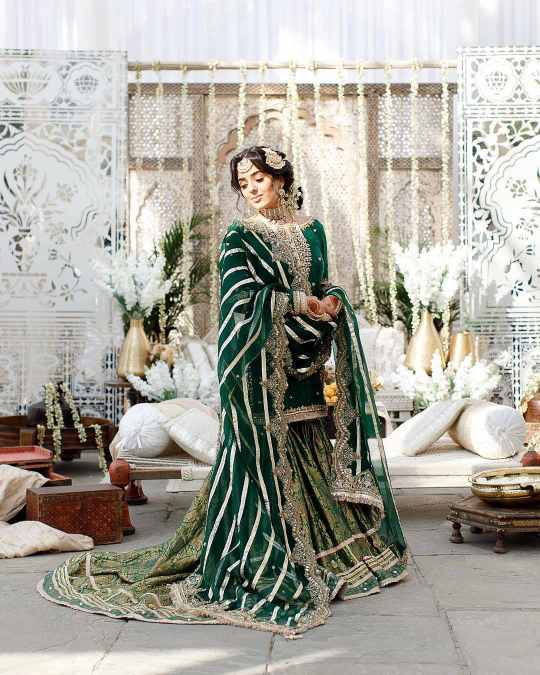 green bridal outfits