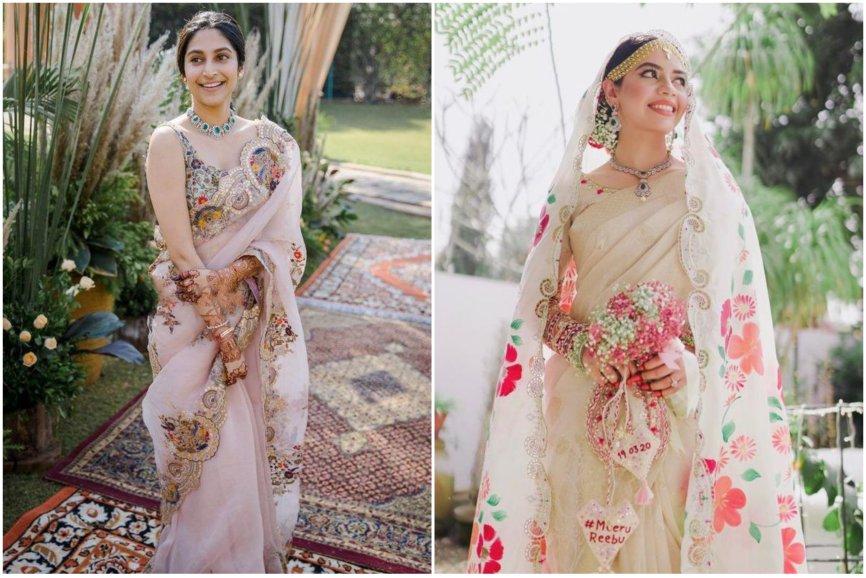 wedding trends | 2021 weddings | bridal trends | floral printed sarees | bridal saree