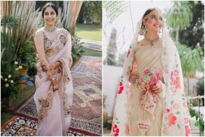 wedding trends | 2021 weddings | bridal trends | floral printed sarees | bridal saree