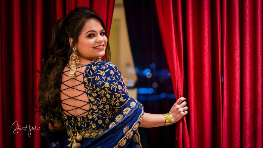 real indian bride , lehenga , Pastel choker | Destination wedding , Ombre mehendi lehenga