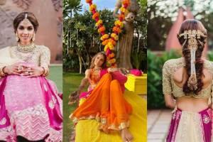 Yashika gladd | wedding hairstyle | lehenga