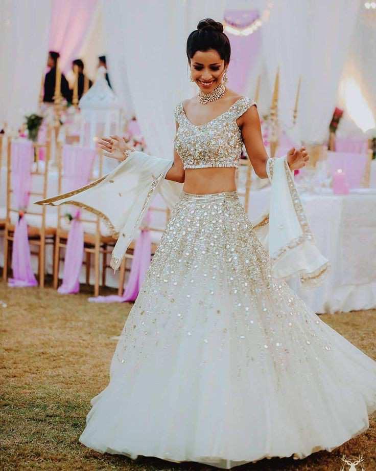 bridal lehenga | white wedding