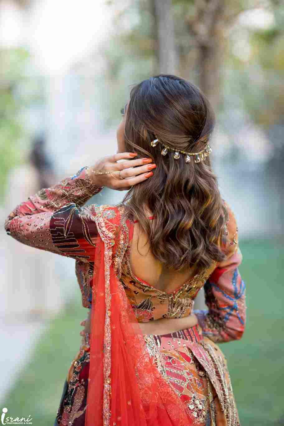 sangeet look | bridal hairstyle | hairstyle